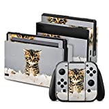 Nintendo Switch Folie Skin Sticker aus Vinyl-Folie Aufkleber Baby Katze Kitty Cat
