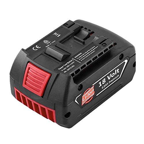 Boetpcr für Bosch 18V 5.0Ah Li-ion Ersatzakku Werkzeug Akku BAT609 BAT618 BAT618G BAT610G 2 607 336 170 2 607 336 235 2 607 336 091