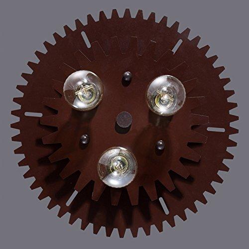 BAYCHEER Industrielampe Deckleuchte Deckenlampe 3 Flammige Lampenfassung Schmiedeeisen Lampe Kronleuchte Pendellampe - 5