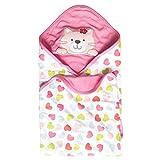 Vine Sommer Baby Decke Kuscheldecke Baumwolle Stickerei Stickerei Haube Neugeborene Wearable Decke Baby Schlafsack Baby Badetuch Kapuze,75*75CM-Katze
