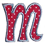 TrickyBoo iron-on fabric smallcase letter m104, 4-5cm