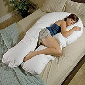 Large Deluxe 12 ft big C-U shape full body & back support maternity pregnancy comfort pillow Disability / Fibromyalgia Aid Pillow only