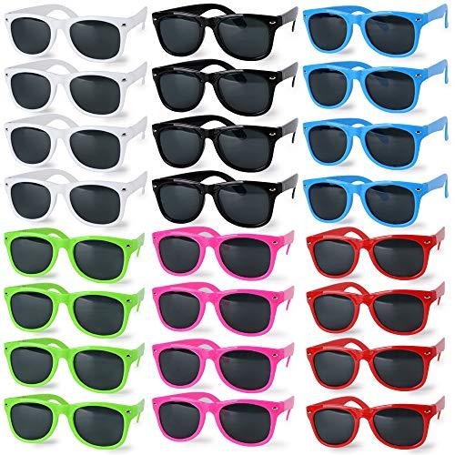 24pares de Gafas de Sol Niños de Plástico Gafas para Fiestas Gafas...