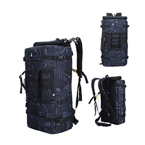 Multifunktions Unisex 50L Wanderrucksack Hucke Camping Rucksack Urlaub Reise Gepäck Handtasche 01