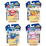 SUPER WINGS 4ITEMS: HOGI,ARI,DONNIE AND JEROME MINI TRANSFORMER, Korean toy, Korean animation by SUPER WINGS
