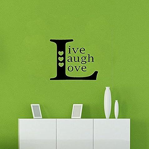 homemay PVC Stickers Muraux anglais Idéal Joy Live Love Hearts européenne minimaliste chambre fond Canapé Home decorationwallpaper33cm x 33cm, Red, 33 cm x 33 cm
