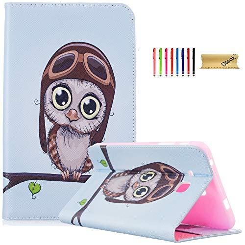 Galaxy Tab A 17,8cm Fall, T280, dteck (TM) Slim Gemustert PU Leder Case Flip Folio Ständer Shell Cover Protector für Samsung Galaxy Tab A 17,8cm sm-t280/sm-t285, 02 Big Eye Owl - Nook Nook Tablet Tasche Oder Farbe