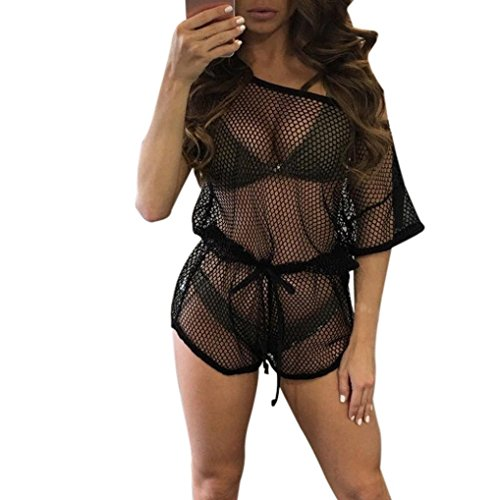 bluester-women-lace-hollow-out-see-through-crochet-bikini-swimwear-beach-cover-up-xl-black