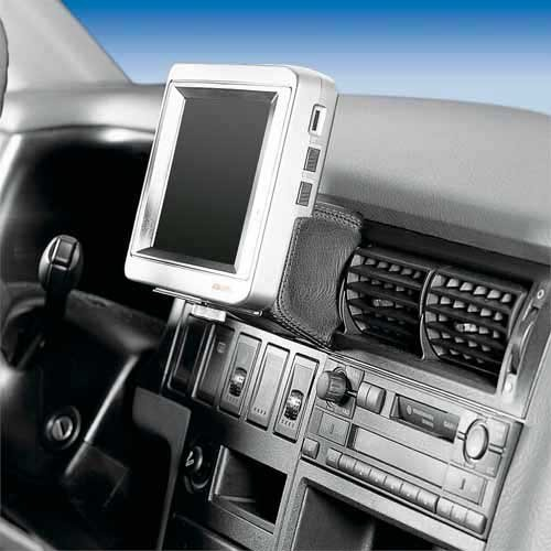 T4 Halterung (KUDA 296061 Halterung Echtleder platingrau (9044) für VW Bus T4*, universal)