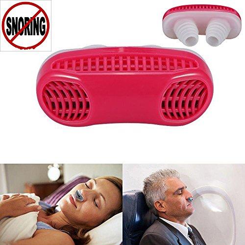Anti Schnarch Nasendilatatoren, Fortgeschrittene Nasen Belüftung um Das Atmen Und Schnarchen Zu Erleichtern, Silikon Material, Reisehülle wird mitgeliefert (rot)