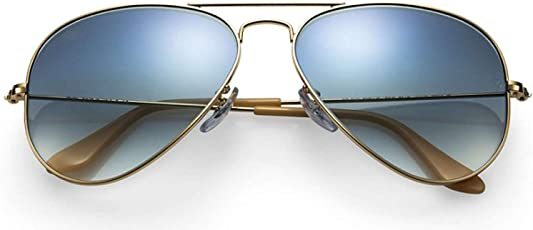 Bestee India Rb Style Gradal Blue Gold Aviator Unisex Sunglasses For Men and Women's - (Gradal Blue Gold 58 Rb)