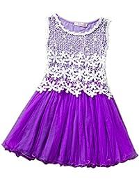 Free Fisher Mädchen Prinzessin Kleid Spitzenkleid mit Blumen