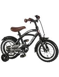 12pulgadas bicicleta infantil niño con ruedines yipeeh Black Cruiser 95% montado