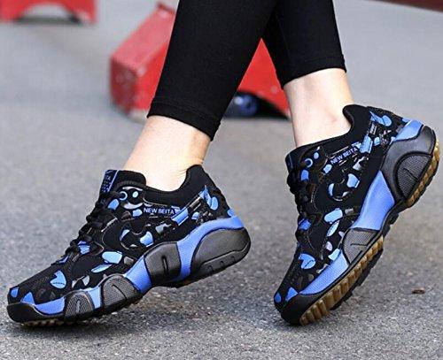 GESIMEI Décontractée Baskets Mignonne Couple Fonctionnement Chaussures Poids léger pour Femmes/ Les adolescents (Veuillez vérifier le tableau des tailles sous l'image principale) Bleu