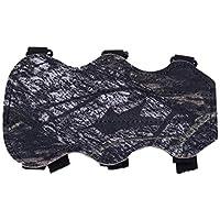 Wenwenzui 19cm x 10,5 m de Tiro con Arco Arco Protección Guardia Brazo antebrazo Segura 3-Camo Correa de Cuero PU Protege el antebrazo de ser golpeado
