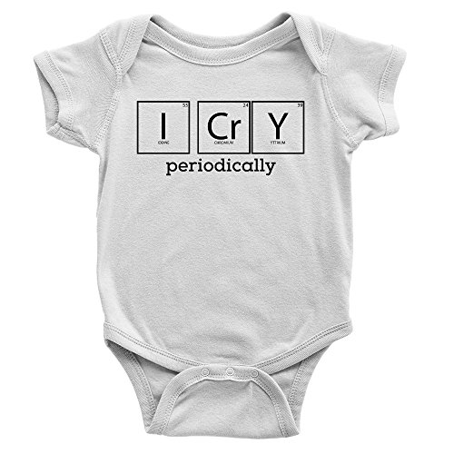 I Cry Periodically Babygrow Crying Funny Joke Science Cool Present Gift New Baby