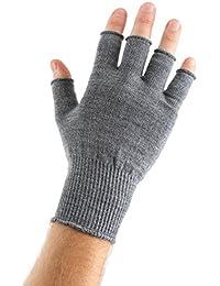 Edz Merino Wool,Unisex-Adult Fingerless Thermal Gloves