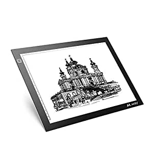 M.Way A4 LED Copy Board Super Thin LED Drawing Track Light Box Tattoo Sketch Architecture Craft