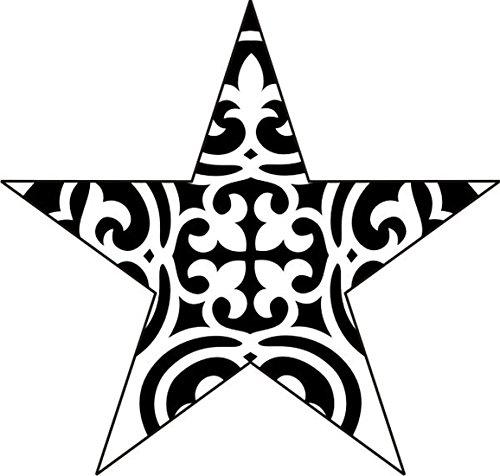 T-Shirt E1134 Schönes T-Shirt mit farbigem Brustaufdruck - Logo / Grafik / Design - abstraktes Ornament mit schönen Ranken und Blättern Mehrfarbig