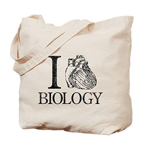 Cafe Bag Press Tote (CafePress–I Heart Biologie–Leinwand Natur Tasche, Reinigungstuch Einkaufstasche Tote S khaki)