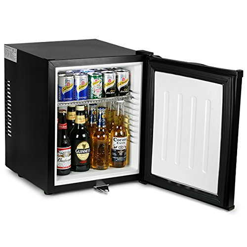 bar@drinkstuff ChillQuiet Silent Mini Bar Fridge 32ltr Black Quiet Running Mini Bar, Hotel Mini Bar, Compact Fridge