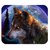Awesomely Evergreen Fashion Wolf and The Planet Customized Mouse Mat/Pad 9.84
