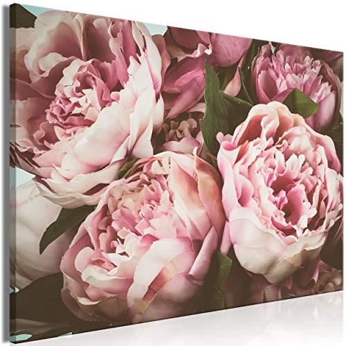 decomonkey Bilder Blumen 120x80 cm 1 Teilig Leinwandbilder Bild auf Leinwand Wandbild Kunstdruck Wanddeko Wand Wohnzimmer Wanddekoration Deko Rose - Rosen Bild Rosa