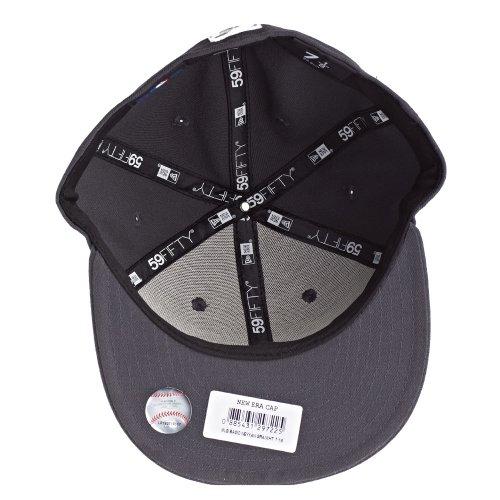 New Era Erwachsene Baseball Cap Mütze Mlb Basic NY Yankees 59Fifty Fitted Gray/White