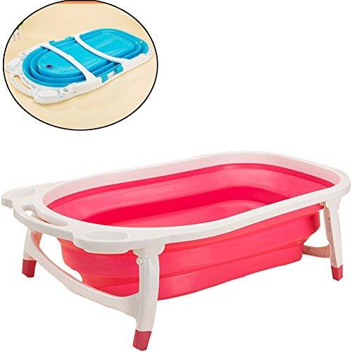 Preisvergleich Produktbild Da Jia Inc zusammenklappbar Hundebadewanne Fold Away Badewanne faltbar Pool für Hund Haustier (Pink)