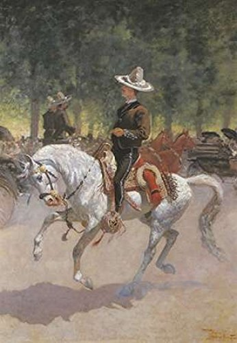 Frederic Remington - Gentleman Rider On The Paseo De La Reforma Kunstdruck (25,40 x 35,56 cm)