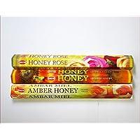 Räucherstäbchen HEM 3er-Set Honey preisvergleich bei billige-tabletten.eu