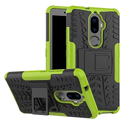 YHUISEN Lenovo K8 Plus case, Hyun Muster Dual Layer Hybrid Armor Ständer 2 in 1 Stoßfestes Gehäuse für Lenovo K8 Plus (5,2 Zoll) ( Color : Purple ) Green
