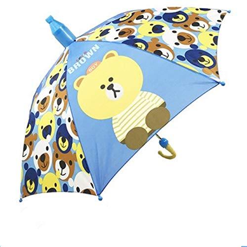 luckyco Regenschirm Sonnenschirm Der Kinder, Kindergartenbaby-Prinzessinregenschirm Der Männlichen und Weiblichen Kinder, Automatischer Regenschirm des Langen Griffs, Regen und Regenregenschirm