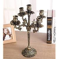 Portacandele vintage europeo/ ghisa intagliato portacandele/Antiquariato candela titolare decorazione in casa-A