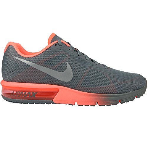 Nike Damen WMNS Air Max Sequent Laufschuhe, Grau (Cool Grey/Metallic Silver/Bright Mango 011), 39 EU