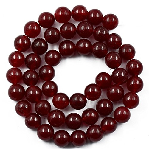 Imported 8mm Burgundy Ruby Red Jade Making Loose Gemstone Round Beads strand 15 inch