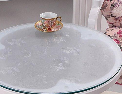 Nappes Ronde en Verre Souple PVC Transparent Givré Étanche Table Mat Table De Mat Table en en Plastique (1.5mm) (Taille : Diameter 110 cm)
