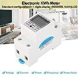 Medidor Eléctrico Digital De Carril Din 35 Mm Monofásico 2 Hilos,Medidor De Energía De Kwh Eléctrica,Pantalla LCD,220V 5(80)A