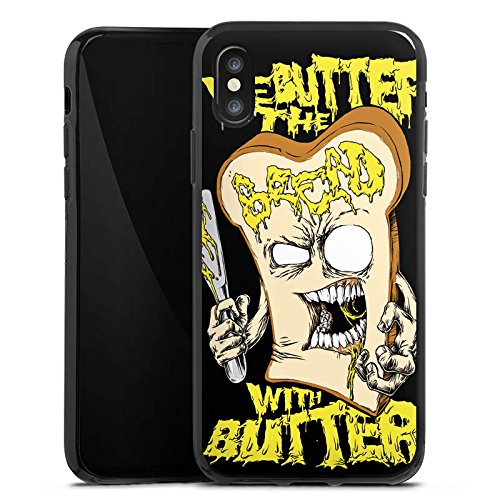 Apple iPhone X Silikon Hülle Case Schutzhülle We Butter The Bread With Butter Fanartikel Merchandise Deathcore Silikon Case schwarz