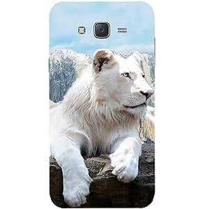 Casotec Snow Lion Design Hard Back Case Cover for Samsung Galaxy J7