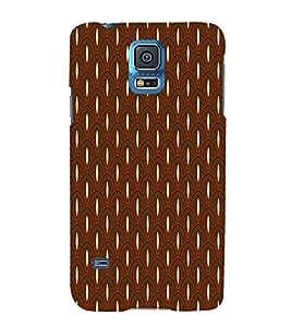 Brown Color Pattern Design 3D Hard Polycarbonate Designer Back Case Cover for Samsung Galaxy S5 G900i :: Samsung Galaxy S5 i9600 :: Samsung Galaxy S5 G900F