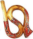 Didgeridoo Bois Suar Peint Spirale Artisanal Aborigène Spiral didjeridoo