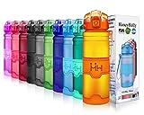 HoneyHolly Sport Trinkflasche - 400/500/700/1000ml - BPA Frei auslaufsicher & Umweltfreundlich - Für Gym, Laufen, Yoga, Camping, Outdoor, Männer, Frauen & Kinder - One Handed Open & Tritan