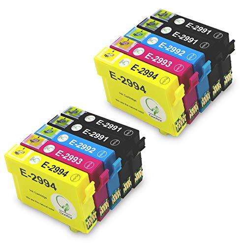 29XL Compatible para Cartuchos de Tinta Epson 29XL 29, Alta Capacidad Compatibles Epson Expression Home XP-342 XP-445 XP-442 XP-235 XP-335 XP-432 XP-435 XP-332 XP-345 XP-247 XP-445, 10 Paquetes