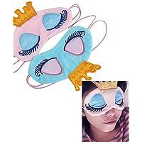 ZQ principessa corona fantasia occhi viaggio copertura dormire benda maschera visiera , pink