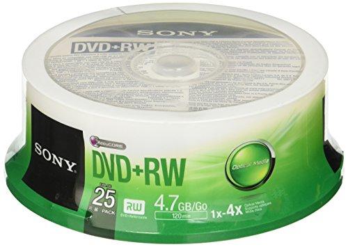 Sony DVD+RW 4x, 25