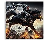Fantasy-Art Darksiders War Rides Impression sur Toile 60 x 60 cm Fabriqué en Allemagne Impression encadrée de qualité à Suspendre, Superbe et Unique. Pas de Poster ou de Poster !