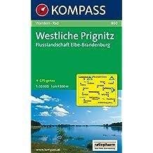 Westliche Prignitz - Flusslandschaft Elbe-Brandenburg: Wanderkarte mit Radrouten. GPS-genau. 1:50000 (KOMPASS-Wanderkarten, Band 860)