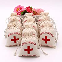 TBhappy, juego de 10 bolsas con doble cordón para colgar, kit de primeros auxilios