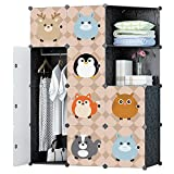 #10: GTC Multi Use Clothes Organizer, Bookcase, Storage Cabinet, Wardrobe Closet 110.5 x 47 x 146 CM Cloth Rack ( IT N - STW1007 )
